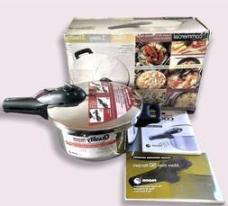Elite Commercial Pressure Cooker Fagor 4 quart 18/10 Stainle