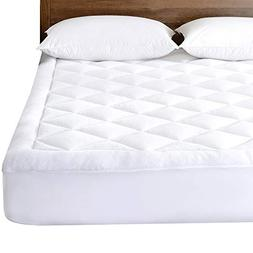 Basic Beyond Fitted Mattress Pad - Quilted Flannel Cover Hyp