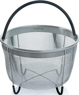 Hatrigo Steamer Basket for Instant Pot Accessories 8 qt  fit