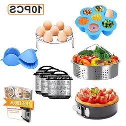 Instant Pot Accessories Set 10 Pcs-Fits 5,6,8Qt Instant pot