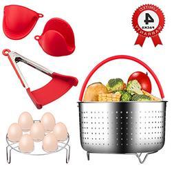 Instant Pot Accessories, Steamer Basket for 6 Quart Instant