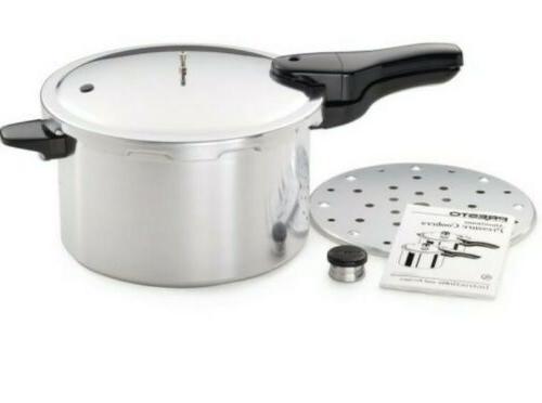 Presto 01282 8-Quart Pressure Cooker Silver