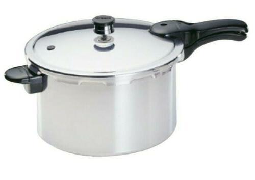01282 8 quart pressure cooker aluminum silver