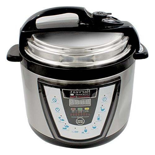 10-in-1 PressurePro 10 Qt Pressure Cooker - Programmable Cooker, Rice Cooker, Sauté Black