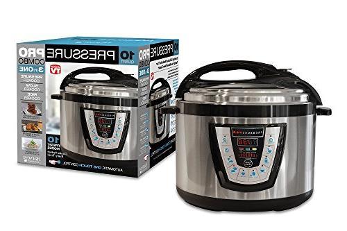 10-in-1 Pressure - Programmable Cooker, Sauté Warmer Black