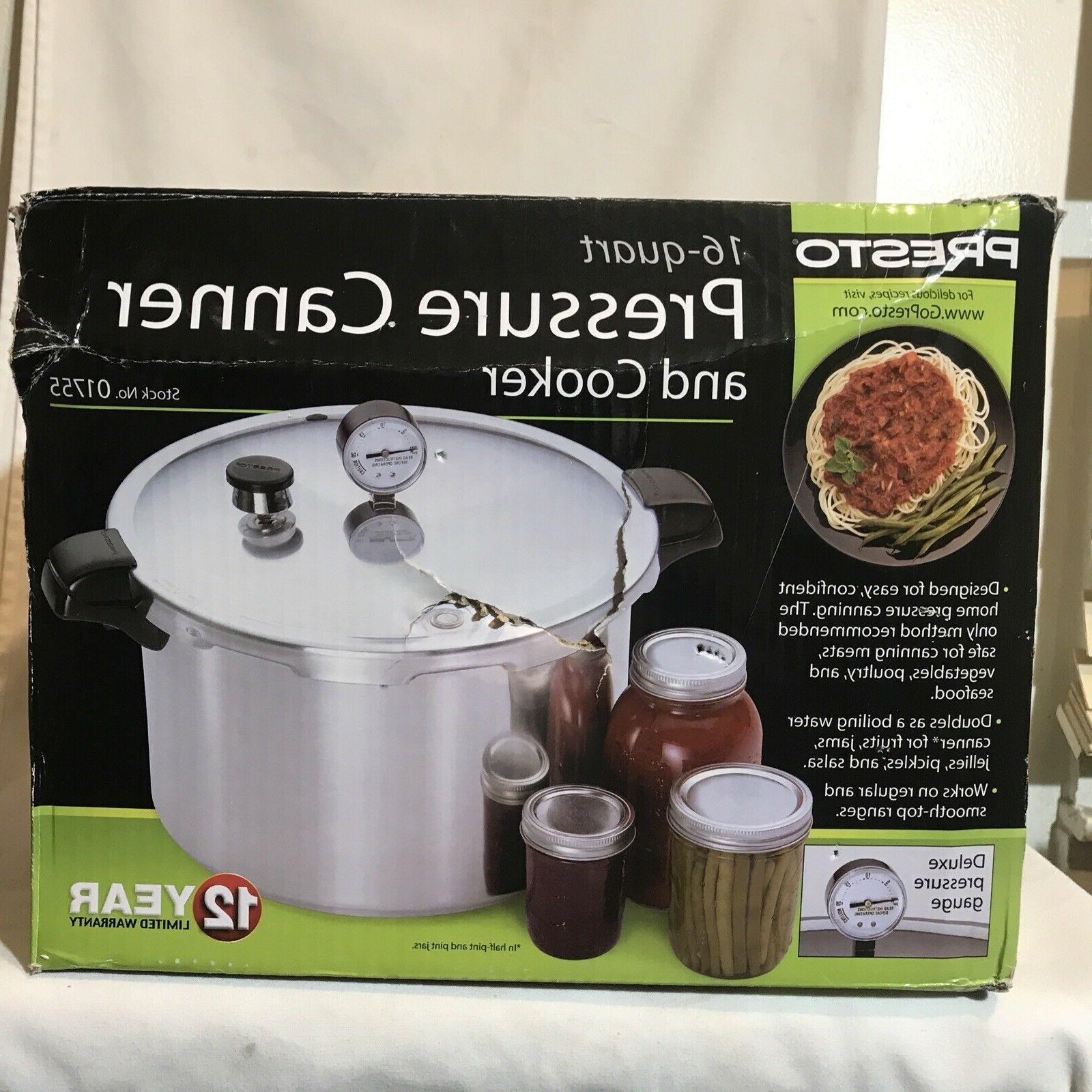 16 quart aluminum pressure cooker canner 1755