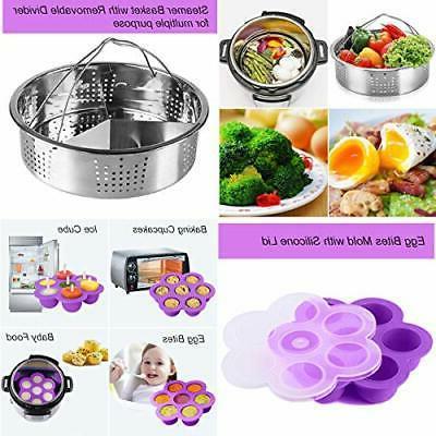 22 Pressure Cooker Accessories Set Instant Pot 5,6,8 Qt, 2