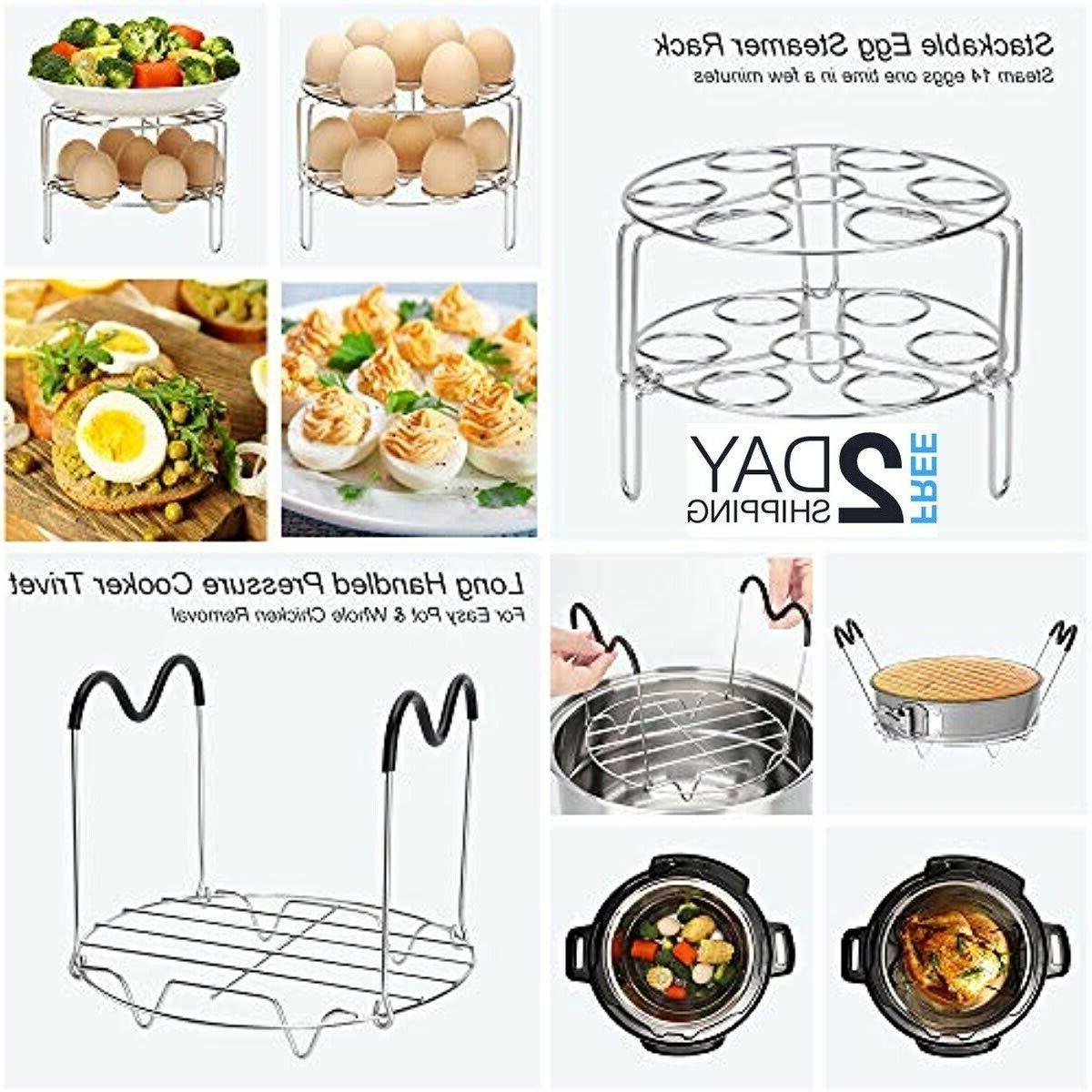 22 Pcs Cooker Accessories Set Instant 5,6,8 Qt, 2