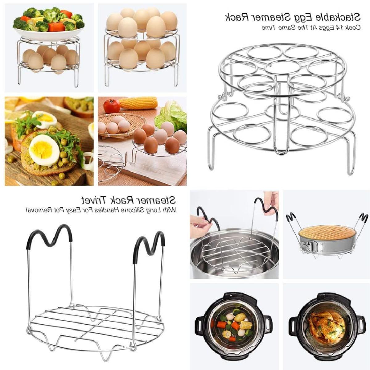 23 Pcs Cooker Accessories Set Compatible Pot 6 Quart