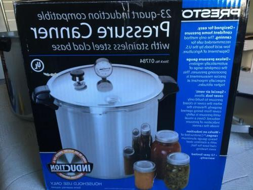 Presto 23 Quart Pressure Canner / Cooker 01784 Induction Sta