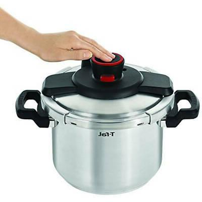 6.3 Quart T-fal Stainless Pressure W/