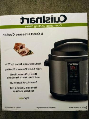 6 quart 1000 watt electric pressure cooker
