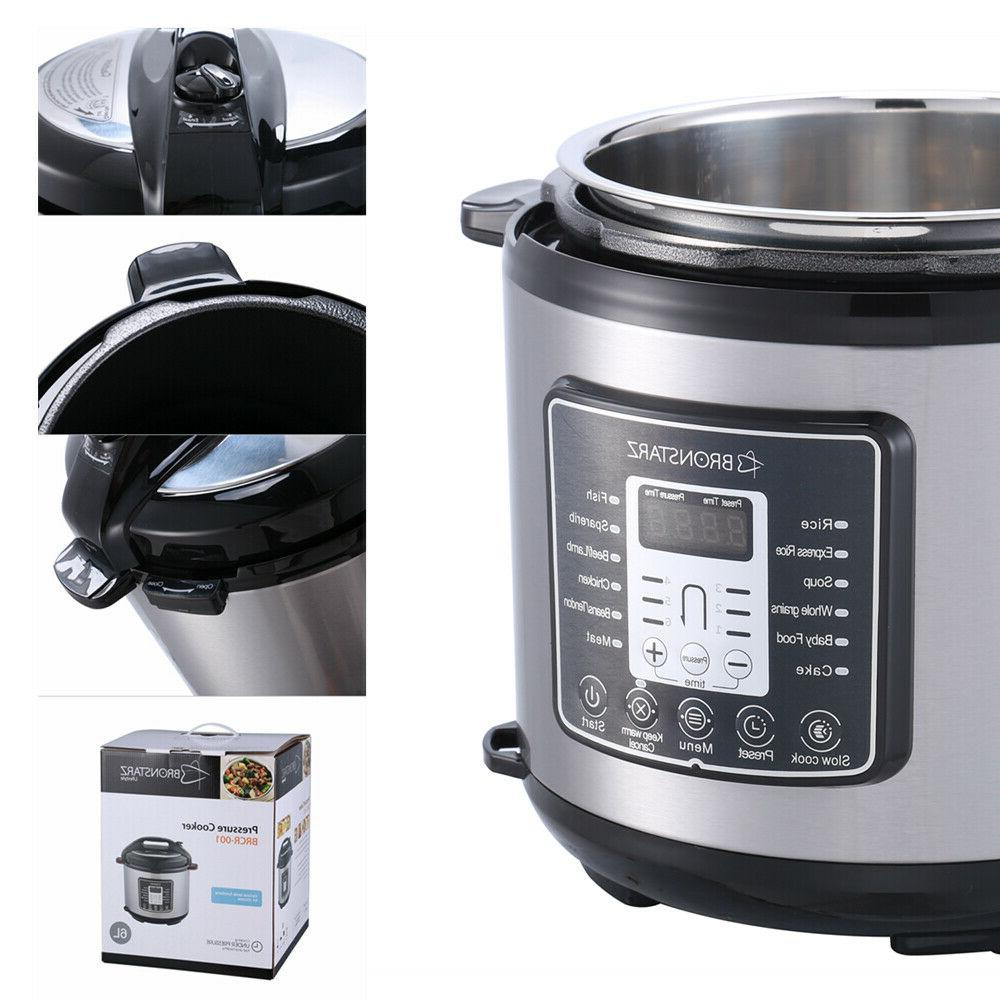 6 Quart Electric Pressure Multi-function Stainless