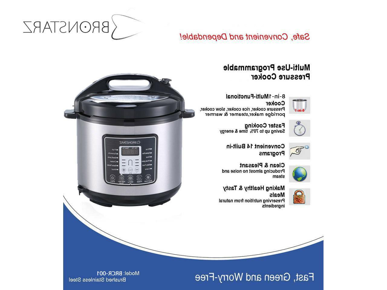 6 8-in-1 Pressure Cooker instant Slow