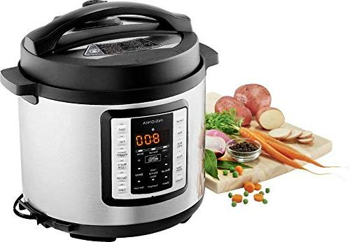 Insignia- 6-Quart Pressure Cooker Stainless
