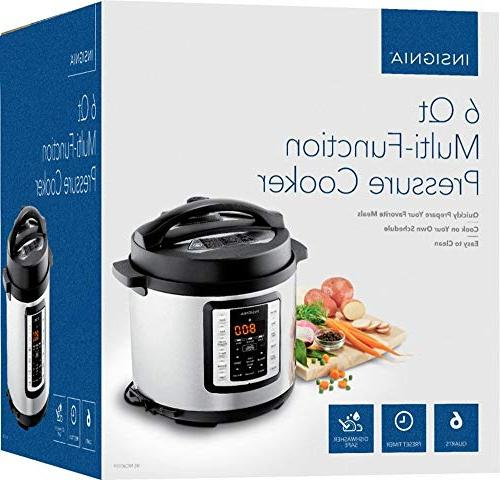 Insignia- 6-Quart Multi-Function Cooker Stainless