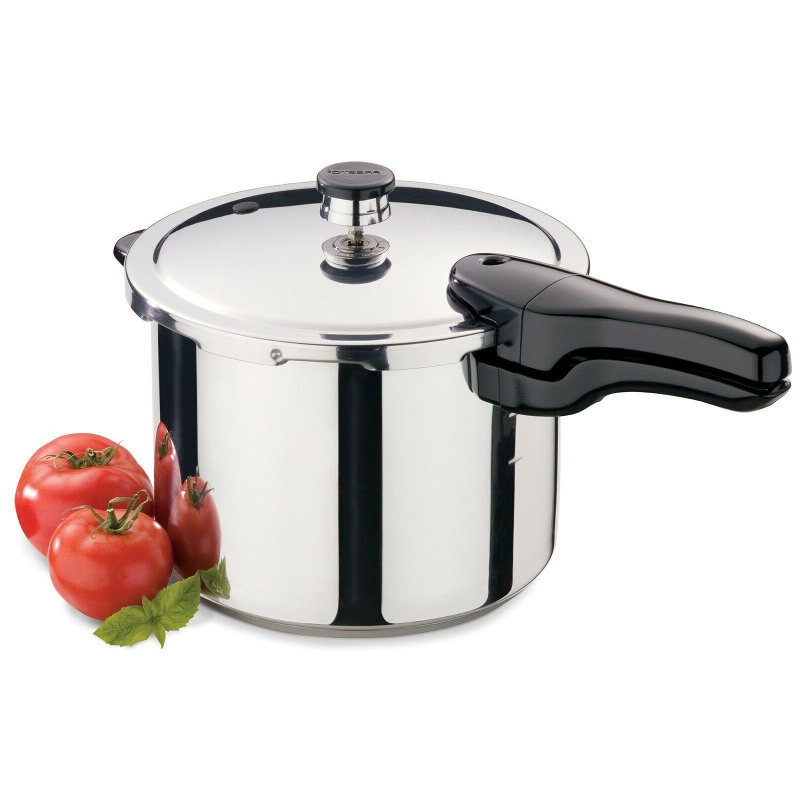 6 quart stainless steel pressure cooker 01362