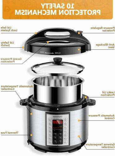 Elechomes Instant Cooking Electric Multi-Cooker US Stock
