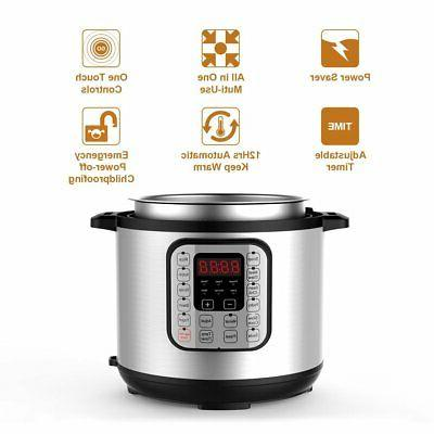 7-in-1 Multi-Function Pressure Cooker 6 Qt, for Cooker