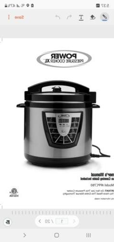 Power Pressure Cooker XL 8 QT  As Seen on TV New!