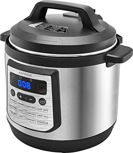 Insignia- 8-Quart Multi-Function Pressure Cooker - Stainless