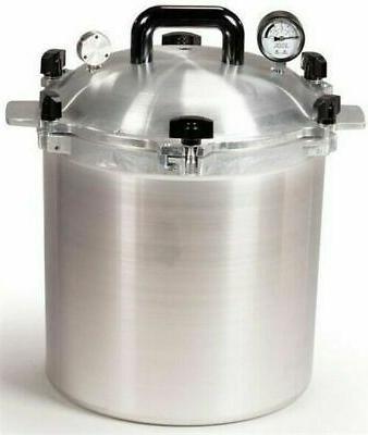 All American 925 25 Qt Heavy Cast Aluminum Pressure Cooker /