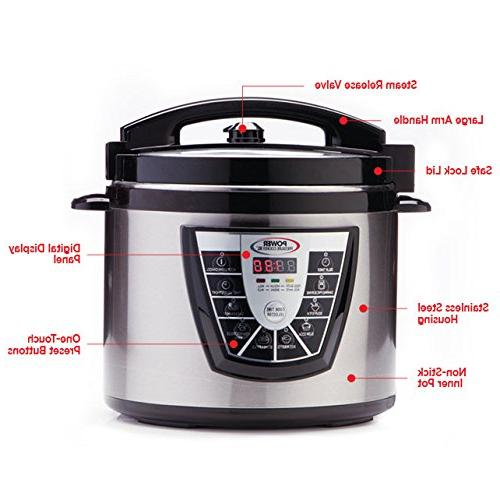 Power 8 Digital Stick Stainless Steam Slow Canner