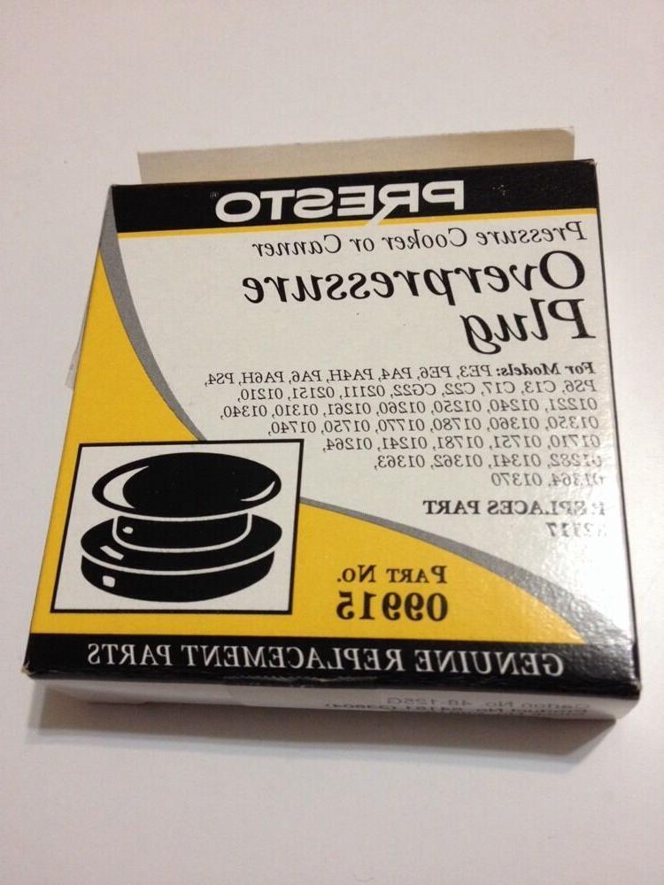 09915 Presto Pressure Cooker Overpressure Plug+
