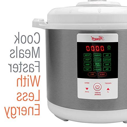 Rosewill Pressure 6Qt, 8-in-1 Cooker Cooker, Cooker Pressure Steamer, Deep Fryer, Yogurt Warmer, RHPC-15001