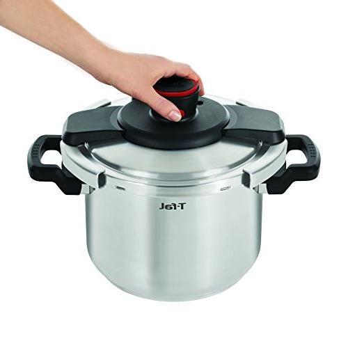 T-fal Clipso Steel Dishwasher Safe PTFE PFOA and Cadmium Free 12-PSI Cooker 6.3-Quart,