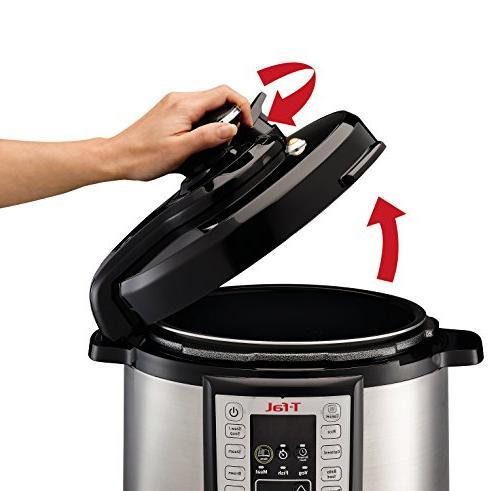 T-fal Pressure Cooker, Fryer, Pressure 25 Programs, 6 Silver