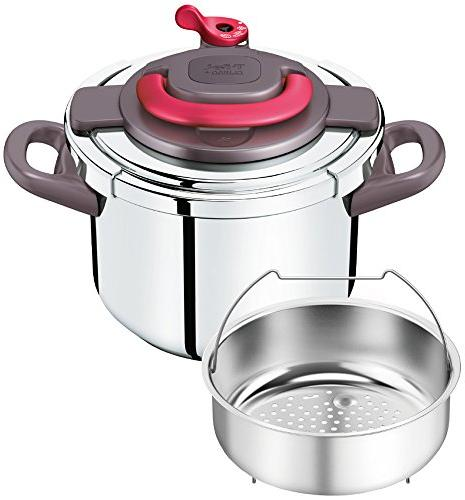 "T-fal pressure cooker""Kuripuso arch"" one-touch opening and c"
