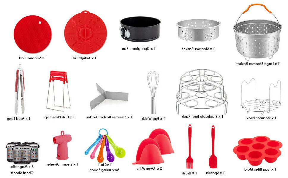 Accessories for Instant Pot 6 Cooker Set 22