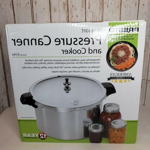 aluminum 16 qt pressure canner and cooker