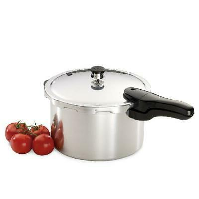 Aluminum Quart Pressure Cooker Fast Cooking Handle Meal