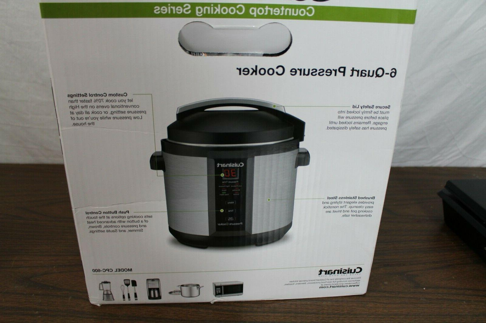 WOW! Cuisinart 6qt. Pressure Stainless New