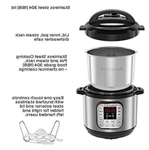 Instant Pot DUO60 Qt 7-in-1 Pressure Cooker,
