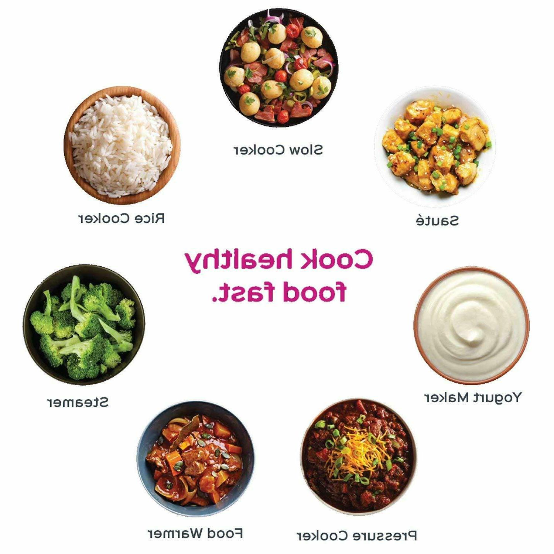 Instant Pot Qt Pressure Rice, Steamer,Sauté, Warmer
