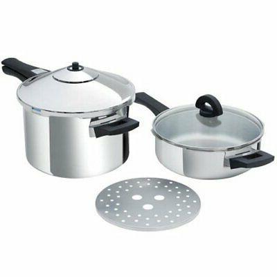 duromatic inox set pressure cooker pot long