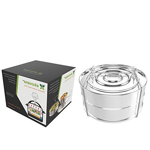 ekovana Stackable Pressure Steamer Pans with lid