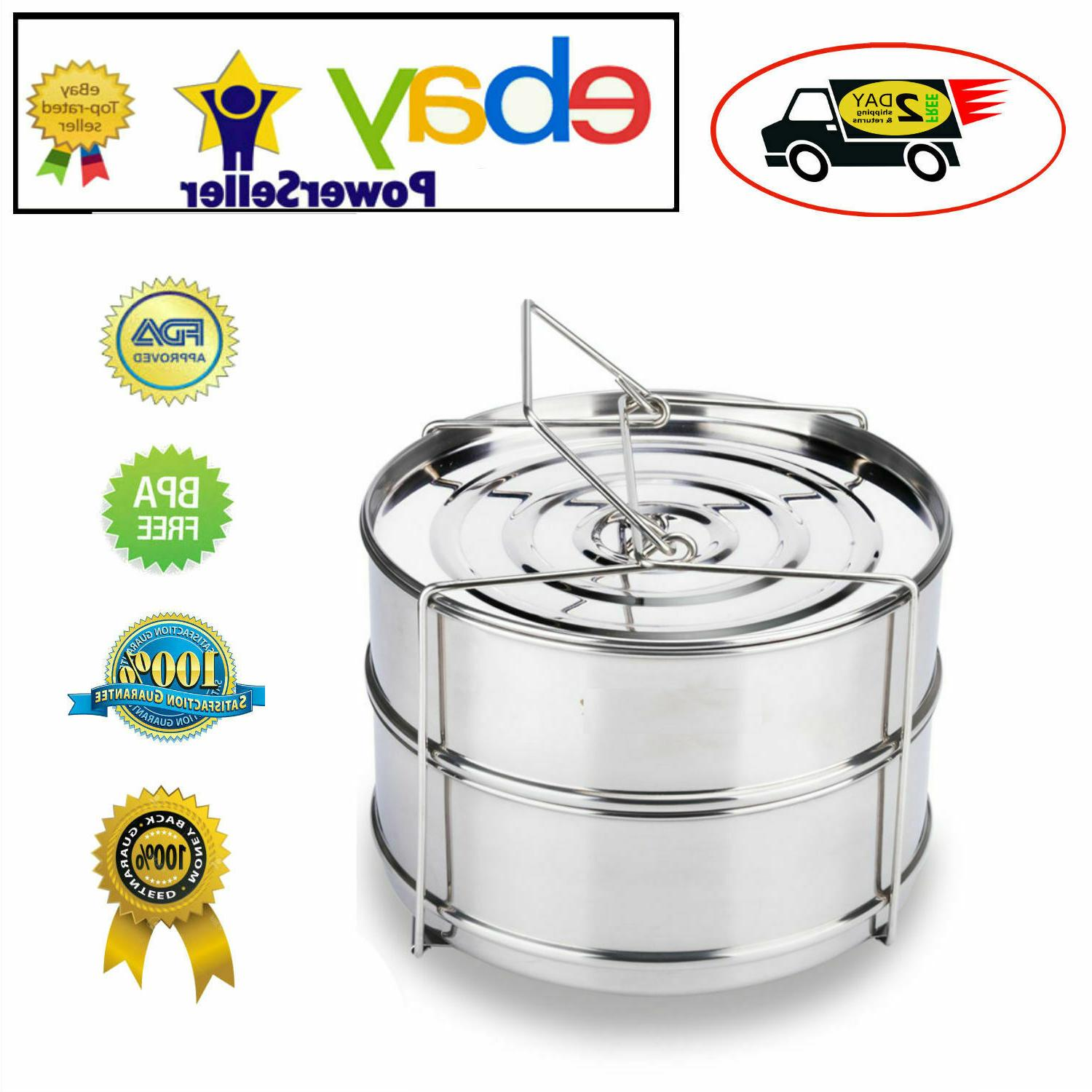ekovana stackable stainless steel pressure cooker steamer in