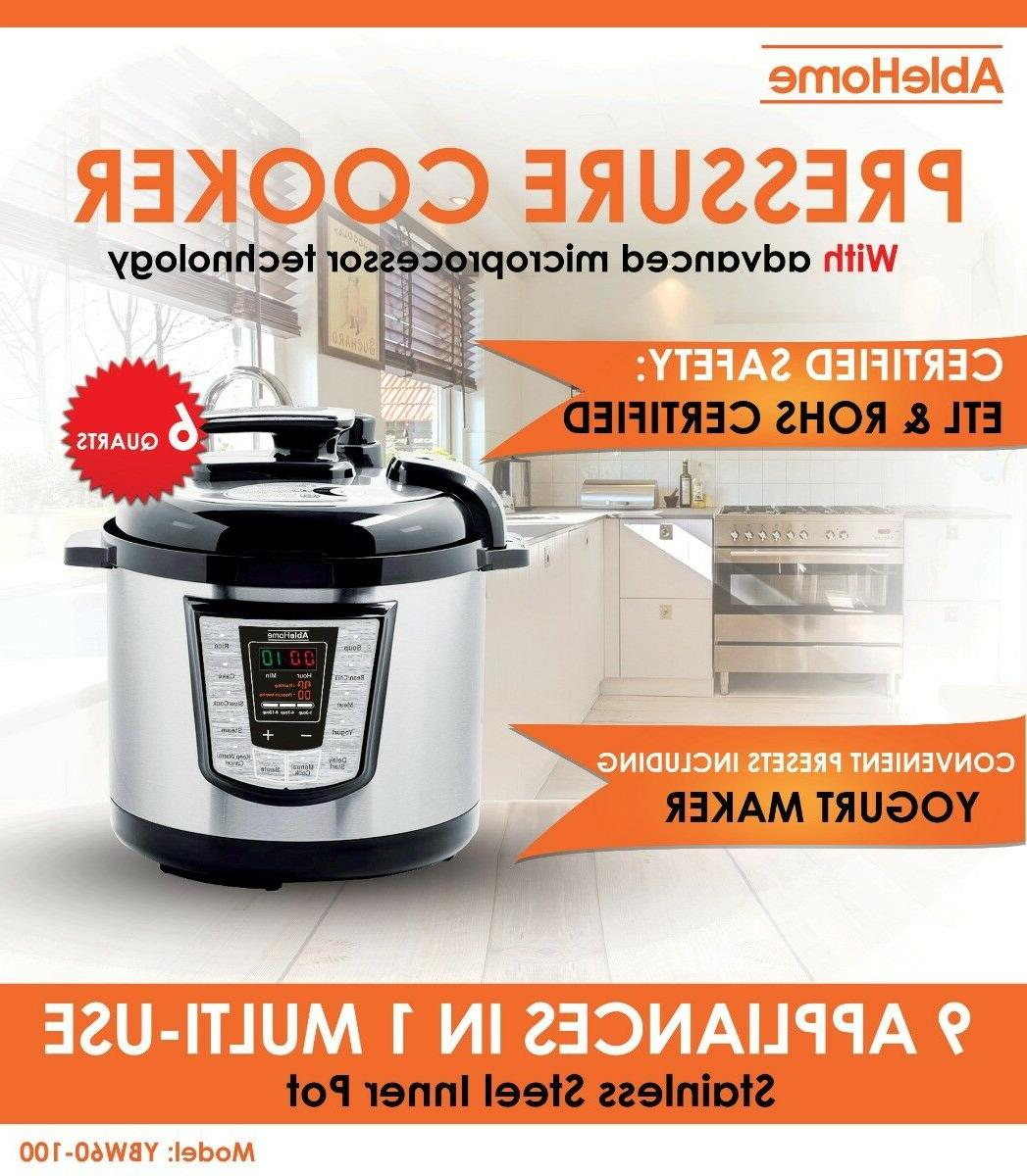 electric pressure cooker multi function 6 quarts