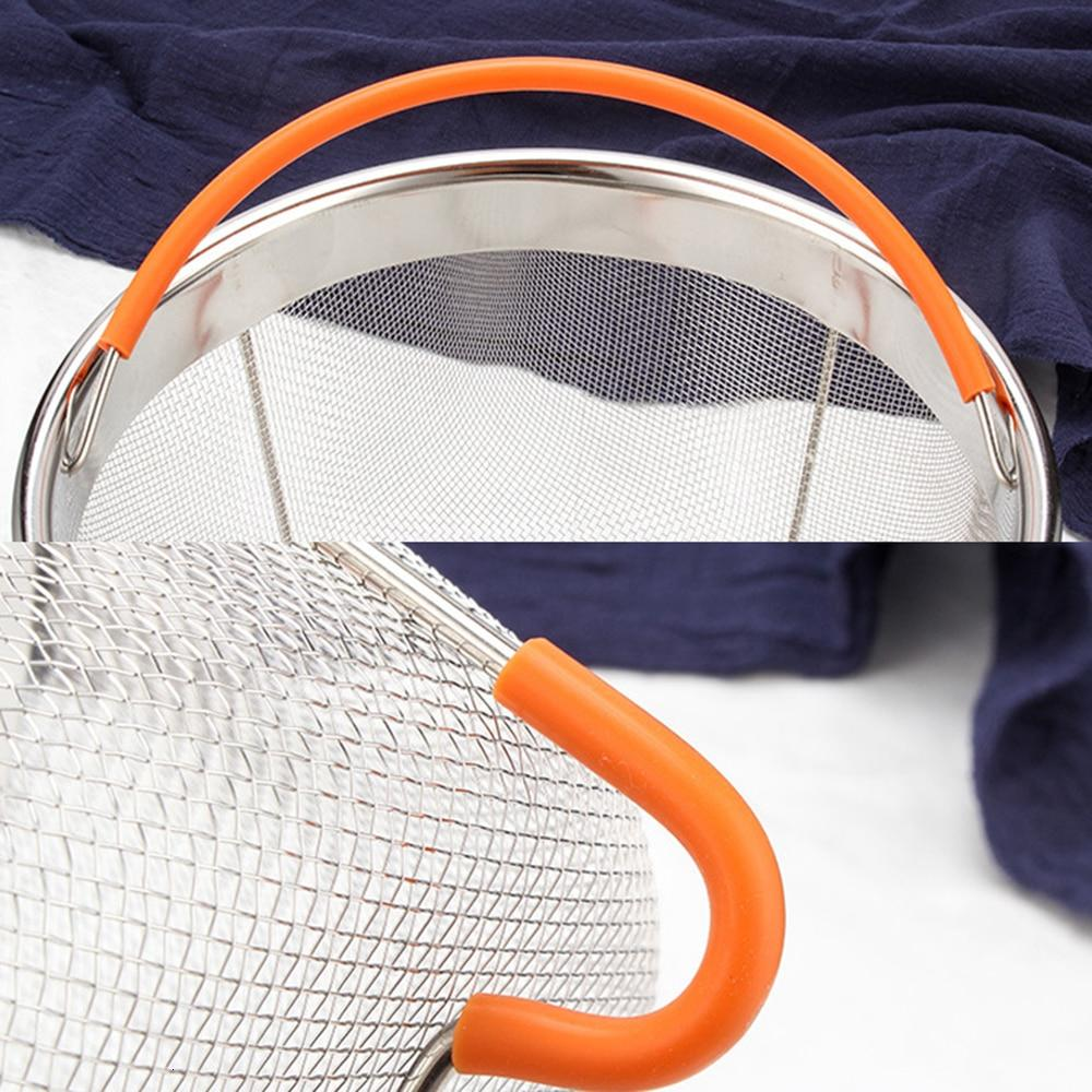 Food Basket 6 <font><b>Instant</b></font> Stainless with Silicone Covered
