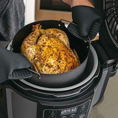 Ninja Programmable Pressure Cooker, Fryer, Cooker, Dehydrator, Slow Cooker Pressure/Crisping Lid, Pot, 4
