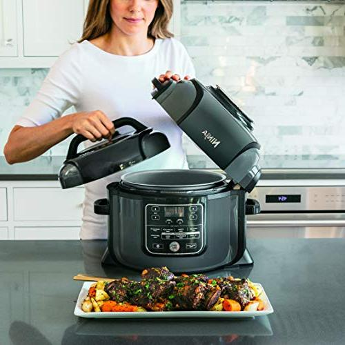 Ninja Foodi OP302 1400-Watt Programmable Pressure Cooker, Air Fryer, Slow Pressure/Crisping Lid, 6.5 Pot, 4 Fry