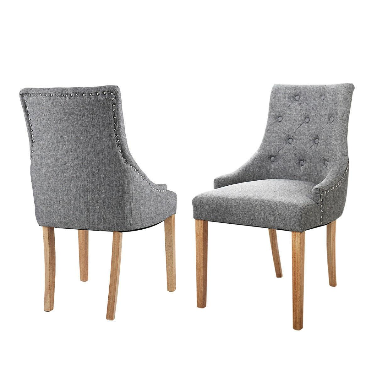 Gray Dining Chairs 2 Wood Furniture