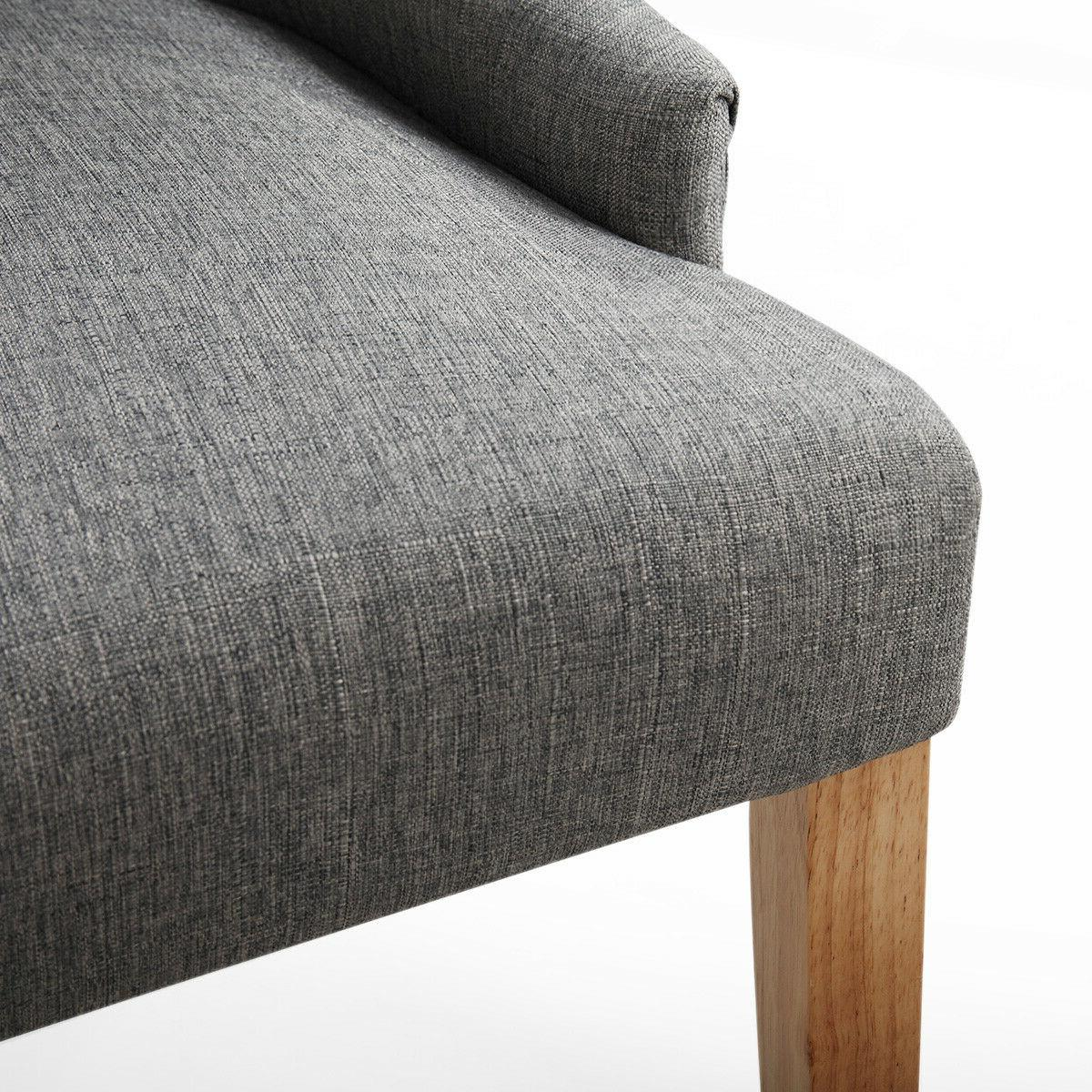 Gray Tufted Modern Side 2 Legs Furniture