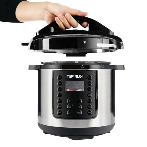 1000W 14-in-1 Electric Cooker 6-Quart Multi-Functional Smart Home