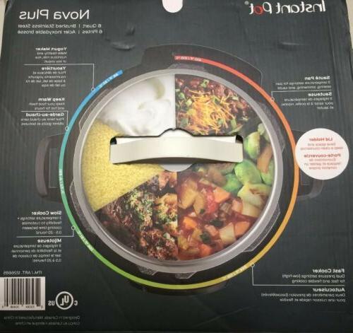 Instant Pot 6 Pressure Cooker Digital Lid Lock Kitchen NEW