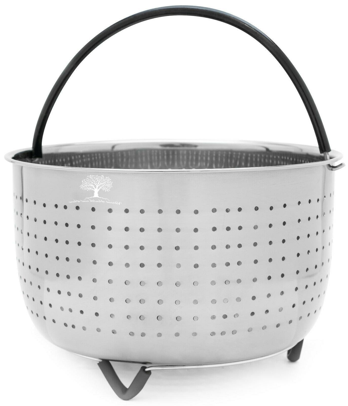 Pressure Cooker Accessories 6 QT Steamer Basket for Instant